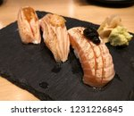 grill salmon sushi japanese... | Shutterstock . vector #1231226845