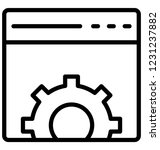 cog  gear isolated vector icon ...   Shutterstock .eps vector #1231237882
