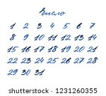 russian headline 'number'. set... | Shutterstock . vector #1231260355
