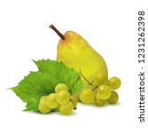 fresh grapes  nutritious and... | Shutterstock .eps vector #1231262398