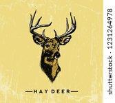 deer head illustration | Shutterstock .eps vector #1231264978