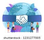 globalization  worldwide... | Shutterstock .eps vector #1231277005