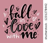 hand written lettering quote... | Shutterstock .eps vector #1231278442