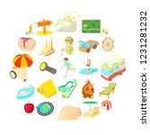 sunny icons set. cartoon set of ... | Shutterstock .eps vector #1231281232