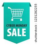 cyber monday text with shopping ... | Shutterstock . vector #1231282255