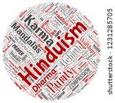vector conceptual hinduism ... | Shutterstock .eps vector #1231285705