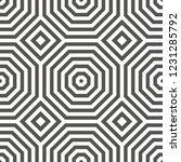 symmetric geometric pattern... | Shutterstock .eps vector #1231285792