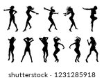 a set of woman dancers dancing... | Shutterstock .eps vector #1231285918