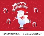 merry christmas polar bears... | Shutterstock .eps vector #1231290052