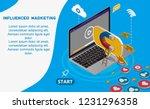 facebook digital advertising... | Shutterstock .eps vector #1231296358