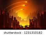 launching nuclear missiles... | Shutterstock .eps vector #1231310182