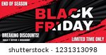 black friday sale banner... | Shutterstock .eps vector #1231313098