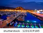 denia sunset with castle and... | Shutterstock . vector #1231319185