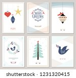 merry christmas and happy new... | Shutterstock .eps vector #1231320415