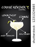 corpse reviver cocktail recipe...   Shutterstock .eps vector #1231324885