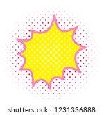 pop art style splash bubble. | Shutterstock .eps vector #1231336888