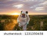 weed control. industrial... | Shutterstock . vector #1231350658