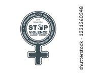 stop violence against women in...   Shutterstock .eps vector #1231360348