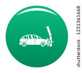 crashed pillar icon. simple... | Shutterstock .eps vector #1231361668