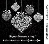 happy valentine's day ... | Shutterstock .eps vector #123138292