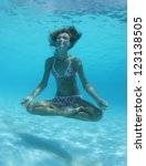 underwater shoot of a relaxed... | Shutterstock . vector #123138505
