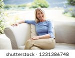 portrait of smiling senior... | Shutterstock . vector #1231386748