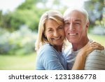 portrait of smiling senior... | Shutterstock . vector #1231386778