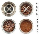 Set Of Four Photos Of A Coffee...