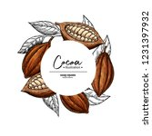 cocoa frame. vector superfood... | Shutterstock .eps vector #1231397932