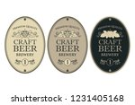 collection of beer labels in... | Shutterstock .eps vector #1231405168