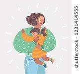 vector cartoon illustration of... | Shutterstock .eps vector #1231414555