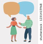 young family couple talking and ... | Shutterstock .eps vector #1231415968