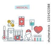 healthcare mobile app. mobile... | Shutterstock .eps vector #1231422388