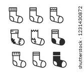 socks icons set | Shutterstock .eps vector #1231430872