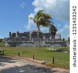 ancient ruin buildings at tulum ... | Shutterstock . vector #1231433242