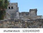ancient ruin buildings at tulum ... | Shutterstock . vector #1231433245