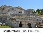 ancient ruin buildings at tulum ... | Shutterstock . vector #1231433248