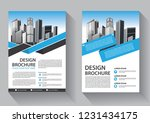brochure template layout  cover ... | Shutterstock .eps vector #1231434175