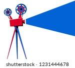 movie movie projector | Shutterstock . vector #1231444678