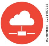 data cloud  cloud isolated... | Shutterstock .eps vector #1231457398