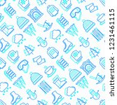 winter seamless pattern with... | Shutterstock .eps vector #1231461115