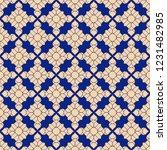 vector geometric floral... | Shutterstock .eps vector #1231482985