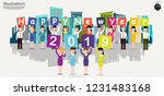 business men and women teamwork ... | Shutterstock .eps vector #1231483168