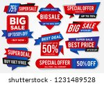 sticker sale set with abstract... | Shutterstock .eps vector #1231489528