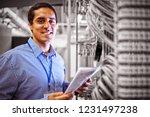 portrait of technician... | Shutterstock . vector #1231497238