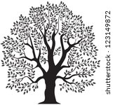 oak tree vector illustration... | Shutterstock .eps vector #123149872