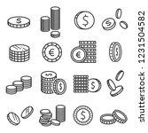 coins metal money  financial... | Shutterstock .eps vector #1231504582