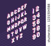 alphabet letter symbols and... | Shutterstock .eps vector #1231504588