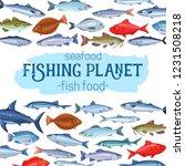 fish  vector illustration.... | Shutterstock .eps vector #1231508218