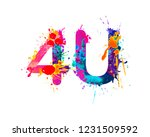 4u. for you. sign of wateroclor ... | Shutterstock .eps vector #1231509592